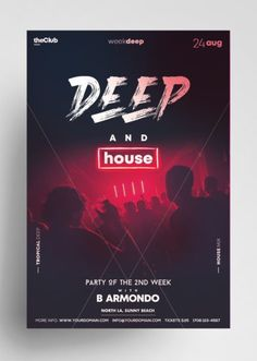 Free Posters, Flyers, PSD Mockups Templates, & More Freebie Items Free Flyer Design, Graphic Design Flyer, Cv Design, Layout Design, Edm Template, Free Psd Flyer Templates, Banner Template, D House, House Party