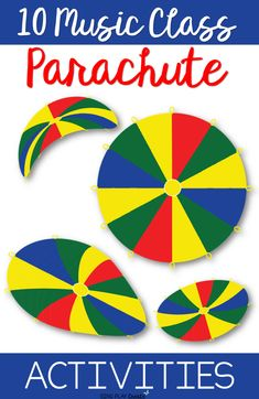 10 Music Class Parachute Activities - I thought you might like a FREE RESOURCE with activities you can use with the parachute. I came up with ten musical parachute activities for the music classroom. Music Education Lessons, Elementary Music Lessons, Physical Education, Kindergarten Music Lessons, Health Education, Elementary Schools, Art Education, Music Lessons For Kids, Kids Music