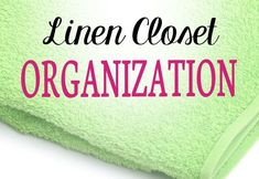 Linen closet organization is like an archeological dig. Usually the baby linens are removed - but not always! Even my own linen closet was a treasure trove of ancient information. Linen Closet Organization, Kitchen Organization, Storage Organization, Organize Your Life, Organizing Your Home, Organizing Tips, Cleaning Calendar, Neat And Tidy, Getting Organized