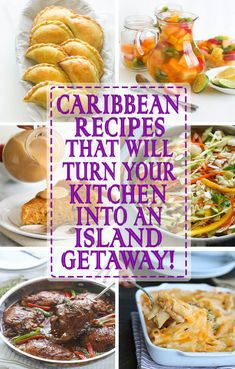 Caribbean cuisine is an incredible blending of tropical flavors and multicultural influences that have been enhanced over centuries. Food in the Caribbean is based on mostly African, Spanish, Chinese, Carribean Food, Caribbean Recipes, Caribbean Party, Jamaican Dishes, Jamaican Recipes, Jamaican Oxtail, Haitian Food Recipes, East Indian Food Recipes, Cooking Recipes