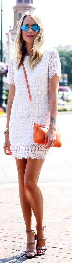 Gigi New York Tangerine Smooth Leather Chain Embellished Cross Body Bag