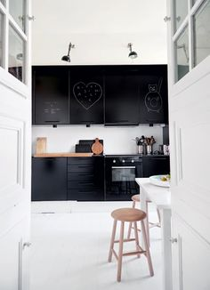 zwarte keuken - black kitchen