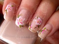 Nail Art Pink Flowers Nail Water Decals Transfers Wraps