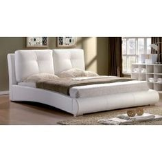Merida 4ft6 Double Faux Leather Bed Frame