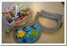 cute fish craft and party idea