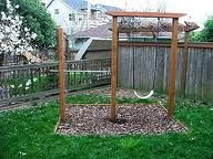Charmant DIY Swing Set With A Pull Over Bar!