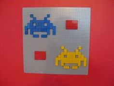 Lego Wall Art lego wall art | wall of legos could prove to be live 3d pixel art