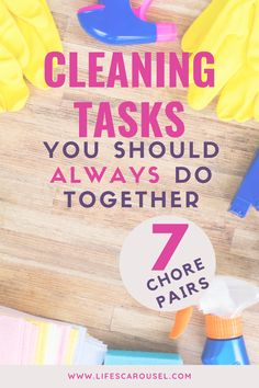 Speed up your cleaning routine with these cleaning duo ideas. Cleaning tasks that you can combine so you can keep your home clean without spending hours cleaning. Cleaning Schedules, Weekly Cleaning, Household Cleaning Tips, House Cleaning Tips, Spring Cleaning, Cleaning Hacks, Disinfecting Wipes, Old Towels, Clean Bedroom