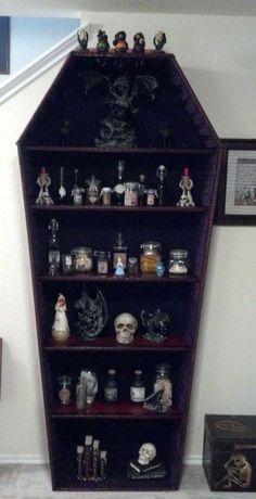 Storage shelf coffin - Cabinet of curiosity