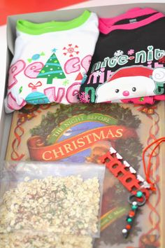 Christmas Eve Box -a fun holiday tradition for the whole family!  My grandmother use to do this for me and it was one of my fondest Christmas memories, silly things but I loved them.
