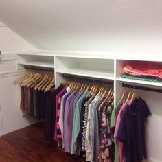 angled ceiling closet ideas - Google Search