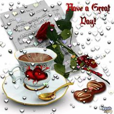 Have a great day! animated hugs hello friend comment good morning good day greeting beautiful day