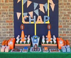 Great football party ideas for boy or super cute idea for super bowl party