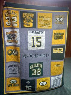 t-shirt and jersey quilt