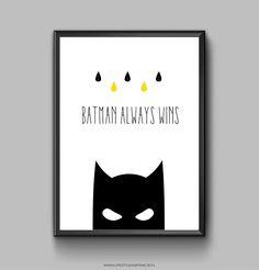 LIFESTYLE INSPIRACJE: Plakat z Batmanem do wydrukowania diy freebies
