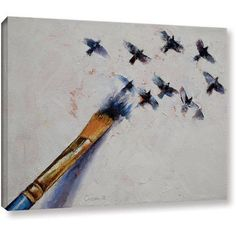 Michael Creese Birds Gallery-wrapped Canvas Art, Size: 36 x 48, Blue