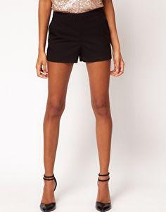 black tailored shorts womens