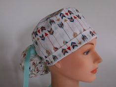 1d7dceddc57 Arrows Ponytail Womens surgical scrub cap scrub hat by Headlids