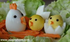 "A LA GRAHAM: HARD BOILED ""CHICKEN"" EGGS- CLEAN EATING. Perfect for Easter and Spring!"