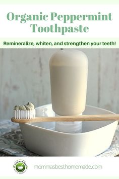 Our organic peppermint toothpaste is gentle on teeth and has only natural ingredients, making it the healthiest choice for you and your family. It contains the minerals you need to strengthen and remineralize your teeth and gums.