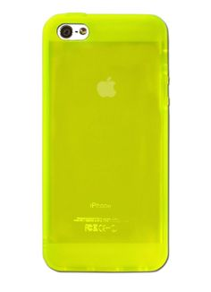Lemon Green Protective Jelly Case for iPhone 5