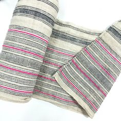Bohemian HMONG Stripe Textile Embroidered Ethnic by LUVTEXTILES