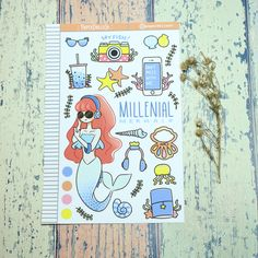 Cute Planner Girl Sticker for  for Erin Condren | Mambi Happy Planner | Blitsy | Carpe Diem | Foxyfix | Filofax | TN | Travelers Notedbook | Mini Happy Planner| Millenial Mermaid Sticker Sell On Etsy, Filofax, Happy Planner, Planner Stickers, Paper Dolls, Fun Crafts, Free Printables, Etsy Seller, Best Gifts