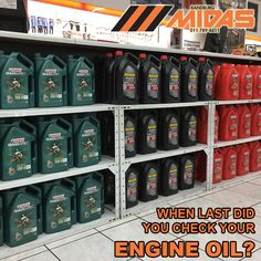 When last did you check your engine oil? Stock at @RandburgMidas Contact us 011 789-4411 | 191 Bram Fischer Drive