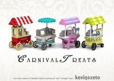 Intro The set pays tribute to various treats indulged by kids young and old at fairs and carnivals all around the world. All 4 models are based on and inspired by classic, rea...