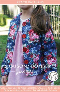 Blouson Bomber Jacket for Children PDF Sewing Pattern : Sizes 3-12