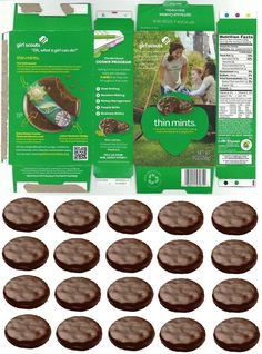 doll sized girl scout thin mints cookie box with matching cookies to fill it! Cosas American Girl, American Girl Crafts, Barbie Food, Doll Food, Ag Doll Crafts, Diy Doll, Girl Scout Thin Mints, American Girl Accessories, Doll Accessories