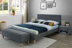 Polsterbett Alan, 160 x 200 cm Isabelline Velvet Bed, Upholstered Platform Bed, Double Beds, Grey Fabric, Decoration, Inspiration, Furniture, Interior, Home Decor