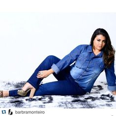 #Repost @barbramonteiro with @repostapp. ・・・ #babimonteiro #positivebody #curves #curvy #modagrande #tallasgrandes #brasil #curverock #jeans