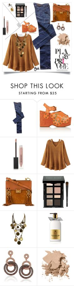 """""""Warm colors"""" by ynk24 ❤ liked on Polyvore featuring Marc Jacobs, Burberry, WithChic, Chloé, Bobbi Brown Cosmetics, Yves Saint Laurent, Molton Brown and Suzy Levian"""