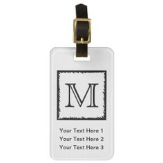 =>>Save on          	Your Letter. Custom Monogram. Black and White. Tag For Bags           	Your Letter. Custom Monogram. Black and White. Tag For Bags today price drop and special promotion. Get The best buyHow to          	Your Letter. Custom Monogram. Black and White. Tag For Bags please fo...Cleck Hot Deals >>> http://www.zazzle.com/your_letter_custom_monogram_black_and_white_luggage_tag-256648571288015343?rf=238627982471231924&zbar=1&tc=terrest