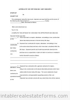 Printable affidavit of ownership 3 template 2015 | Sample Forms ...