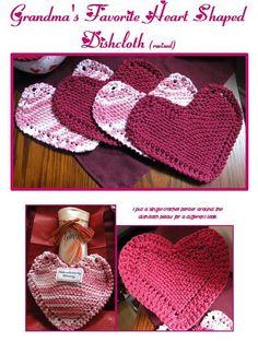 grandmas favorite heart shaped cloth