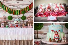 Little Red Riding Hood Party Full of Really Cute Ideas via Kara's Party Ideas | KarasPartyIdeas.com #LitteRedRidingHood #BigBadWolf #PartyId...