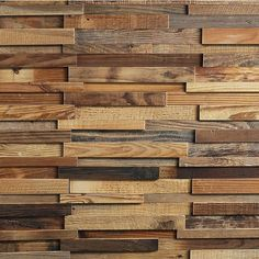 Shop BELLEZE 10 Sq Ft Solid Wood Stripes Wall Panel, Nails & Glue - standard - On Sale - Overstock - 30686694 Reclaimed Wood Paneling, Rustic Wood Walls, Wooden Walls, Wood Wall Paneling, Paneling Ideas, Wooden Accent Wall, Reclaimed Wood Accent Wall, Accent Walls, Rustic Wainscoting
