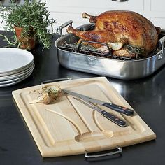 Reversible Carving Board II | Crate and Barrel