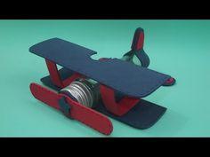 Faça você mesma: Tubete avião - YouTube.  Eu usei cores mais alegres por ser…