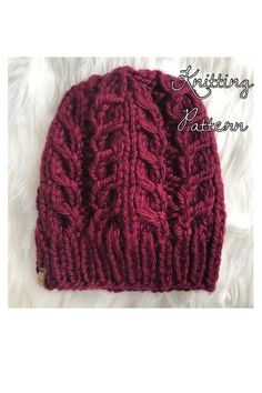 67089f92ffd98 KNITTING PATTERN  The Willow Cable Beanie