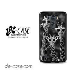 Hipster Giraffe For LG G3 Case Phone Case Gift Present YO