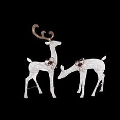 Bring a beautiful look to your yard with Home Accents Holiday LED Lighted White Glitter PVC Deer and LED Lighted White Glitter PVC Doe. Christmas Light Show, Christmas Lights, Outdoor Christmas, Christmas Diy, Holiday, Spark Light, White Reindeer, Yard Sculptures, Christmas Yard Decorations