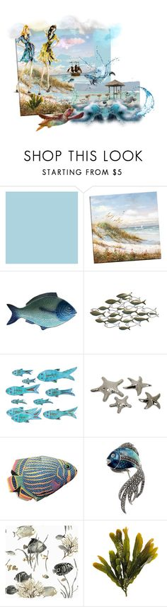 """""""Surreal Sea!"""" by housebybianca ❤ liked on Polyvore featuring Indian Ocean, IMAX Corporation and Boston Warehouse"""