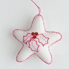 Christmas decorations in a star shape made by CrimsonRabbitBurrow