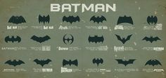 Batman symbols.  Which do you like best?