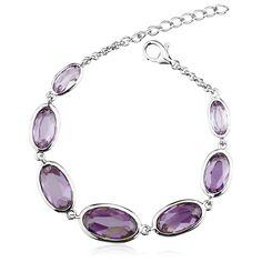 Tanzanite Color Swarovski Crystals Bracelet