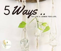 5 WAYS TO LIVE A LOWER TOX LIFE