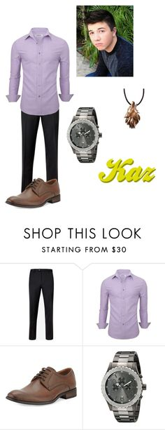 """Lab Rats: Formal Kaz"" by powerpuff-fanatic322 ❤ liked on Polyvore featuring Ted Baker, Robert Wayne, Invicta, men's fashion and menswear"